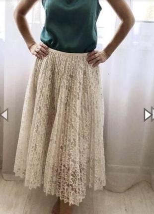 Хит сезона,юбка плиссе,плиссированная,гофре,миди,длинная