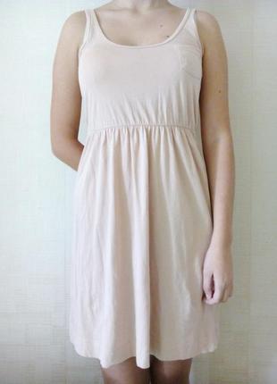 Нежное розовое платье от h&m