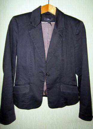 Черный жакет/пиджак h&m