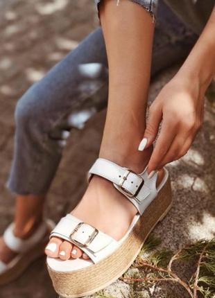Кожанные сандали palm