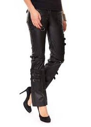 Новые стильные фирменные брюки из натуральной кожи от мирового бренда castro midnight
