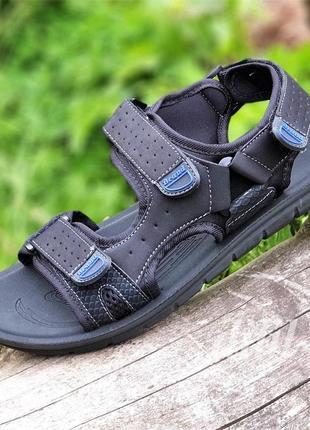 Босоножки сандалии мужские черные на липучках спортивные