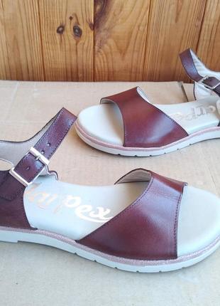 Новые стильные кожаные шикарные испанские босоножки сандалии jar pex