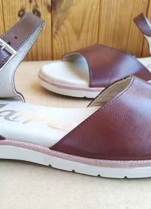 Новые комфортные кожаные шикарные испанские босоножки сандалии jar pex