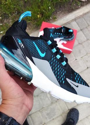 Шикарные мужские кроссовки nike air max 270 black