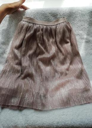 Нарядная юбка праздничная блестящая clockhouse