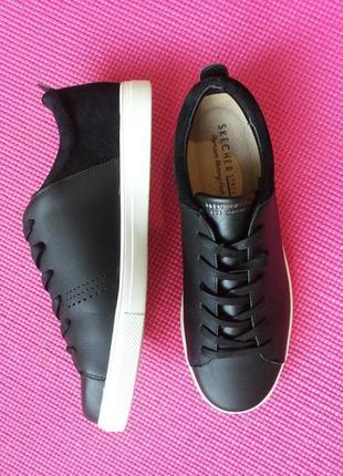 Черные городские кеды, кроссовочки, полуботиночки от skechers оригинал