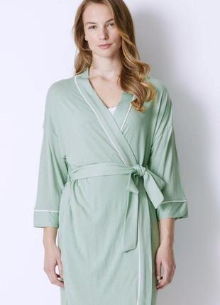 Новый длинный халат трикотаж качество marks&spencer бумажный ярлык размер 16/xxл