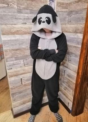 Панда, кигуруми, слитный костюм, bella beau, s, 44