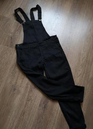 Черный джинсовый комбинезон размер 12