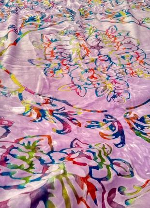 Покрывало одеяло плотное сиреневого цвета полуторный  и евро размер
