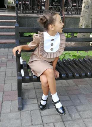 Платье школьное в школу на 1 сентября3 фото