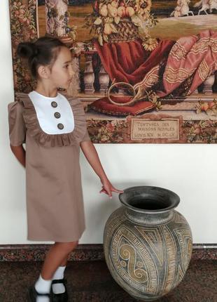 Платье школьное в школу на 1 сентября4 фото