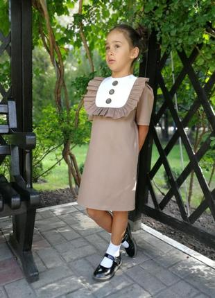 Платье школьное в школу на 1 сентября5 фото