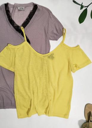 ❤️яркая футболочка с открытыми плечами