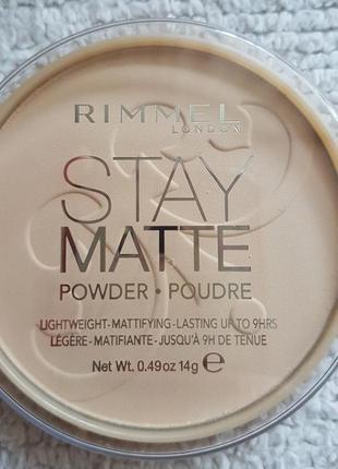 Компактная пудра stay matte от бренда rimmel