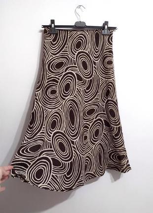 Льняная лёгкая юбка премиум бренд hobb's, l-xl