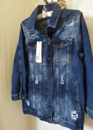 Джинсова куртка (джинсовка)  оверсайз новинка 20195 фото