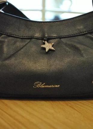 Стильная сумка от blumarine, оригинал, италия! кожа! клатч