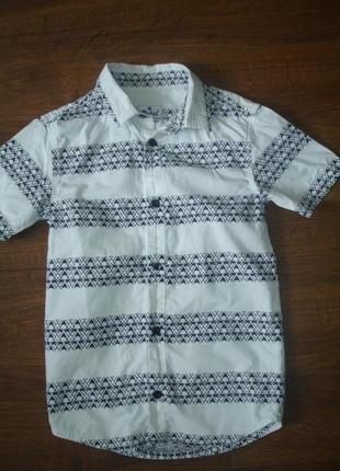 Фирменная rebel стильная рубашка на стройного мальчика 7-8 лет