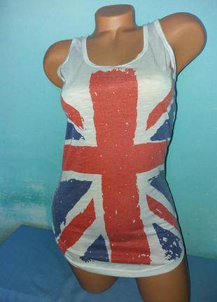 Майка в принт британський прапор