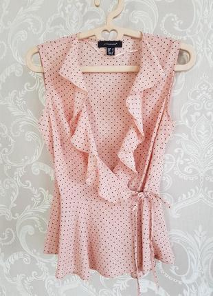 Блуза пудра запах горошек!