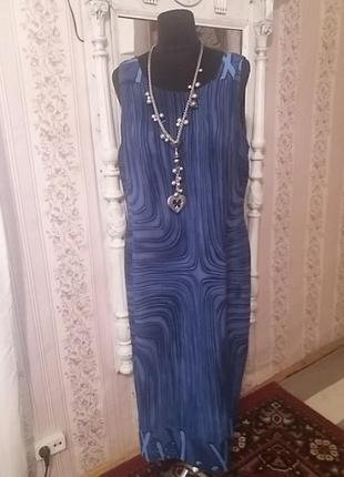 Вискозное платье roman р.54-56.много вещей больших размеров