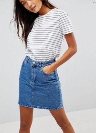 Базовая джинсовая юбка на все времена года р. 10