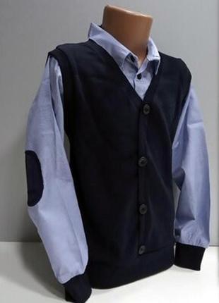 Школьный реглан жилетка обманка турция свитер