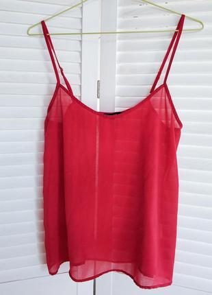 Блуза, топ, майка в бельевом стиле, красная.