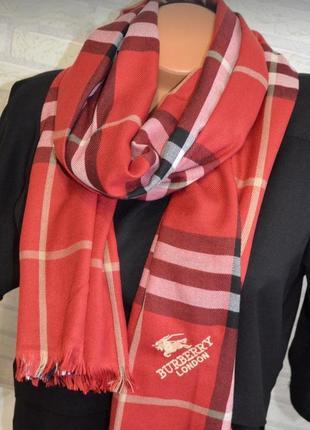 Красный палантин шарф вurberry качество супер