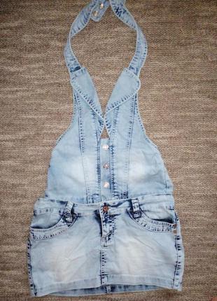 Сарафан джинс, юбка