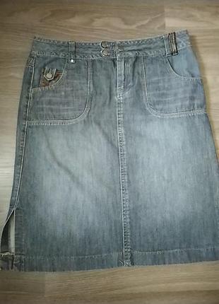 Юбка джинсовая длинная батал