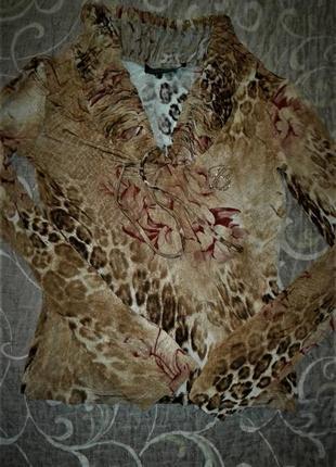 Леопардовая кофточка gizia balizza р.38