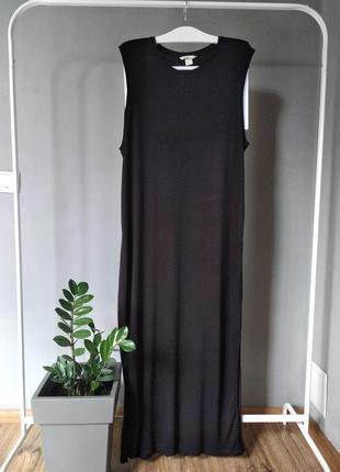 Длинное трикотажное платье3 фото