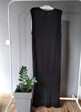 Длинное трикотажное платье4 фото