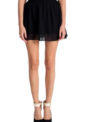 Шифоновая мини юбка
