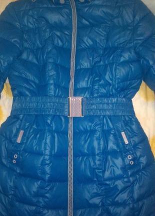 Зимняя куртка 52р. цвет морской волны.