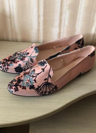 Новые туфли балетки цветочный принт george
