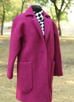 Пальто оверсайз из валяной шерсти