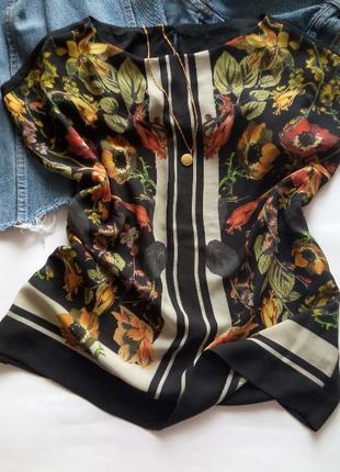 Шифоновый топ блуза в цветы