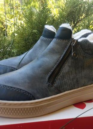 Зимние ботинки rieker на шерсти хайтопы2 фото