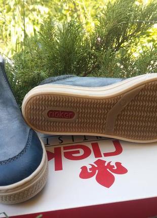 Зимние ботинки rieker на шерсти хайтопы4 фото