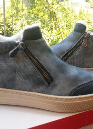 Зимние ботинки rieker на шерсти хайтопы1 фото
