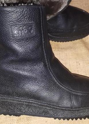 43р-28 см ботинки зима кожа цигейка  gorami swiss design