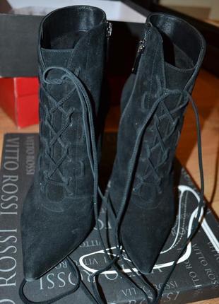 Замшевые ботинки фирменные ботиночки на шпильке замш кожа сапожки сапоги
