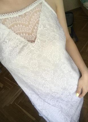 Платье кружевное с подкладкой