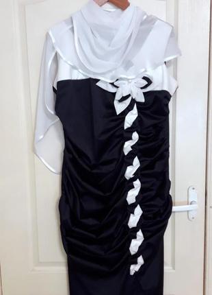 Праздничное платье с накидкой