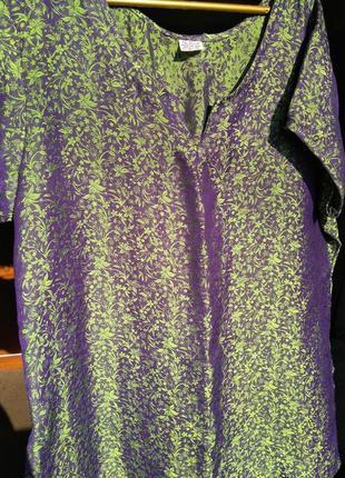 Шелковая блуза-футболка