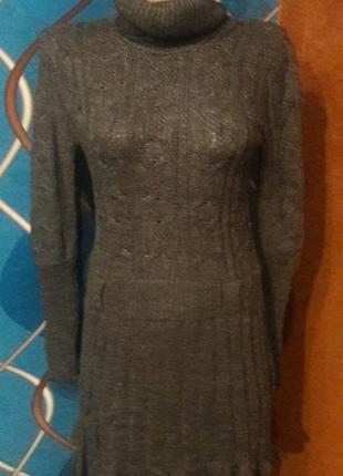Вязаная туника платье, размер 44-48